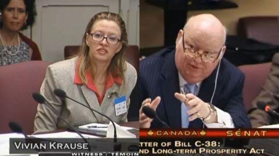 Vivian Krause, Senator Duffy testifying before Committee on Bill C-38